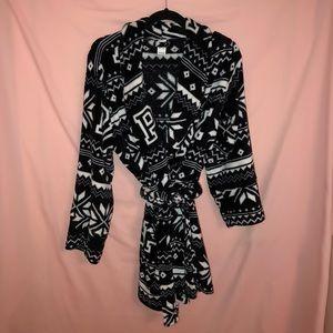 Victoria's Secret PINK Black and White Bathrobe